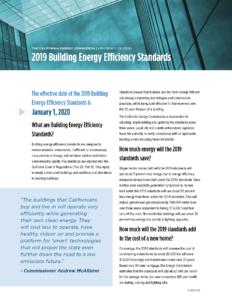 2019 California Energy Code changes