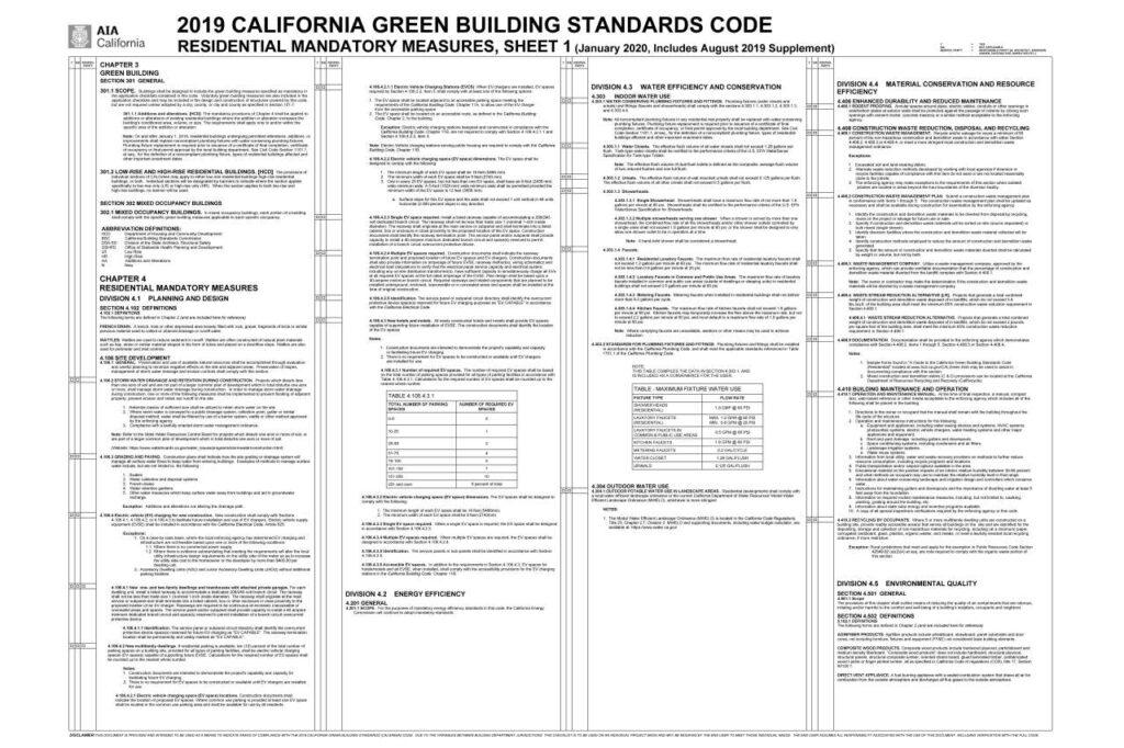 AIA CalGreen Checklist
