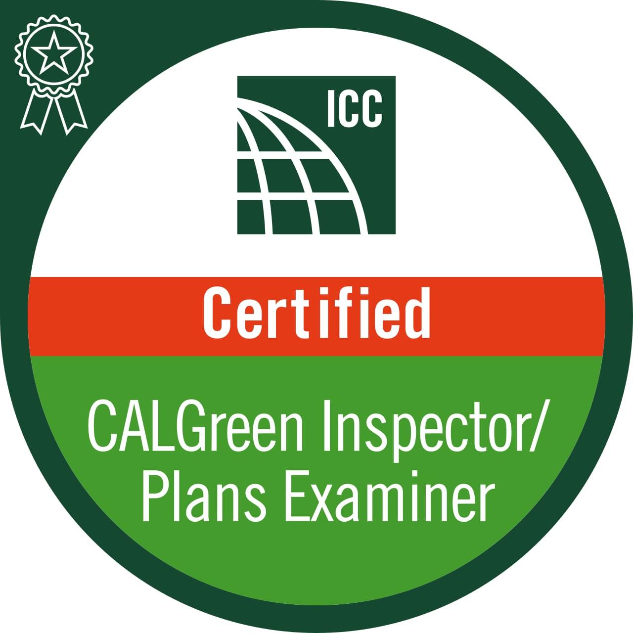 ICC Certified CalGreen Inspector