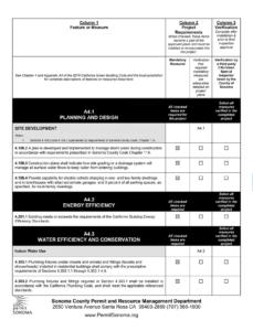 Sonoma CalGreen Checklist