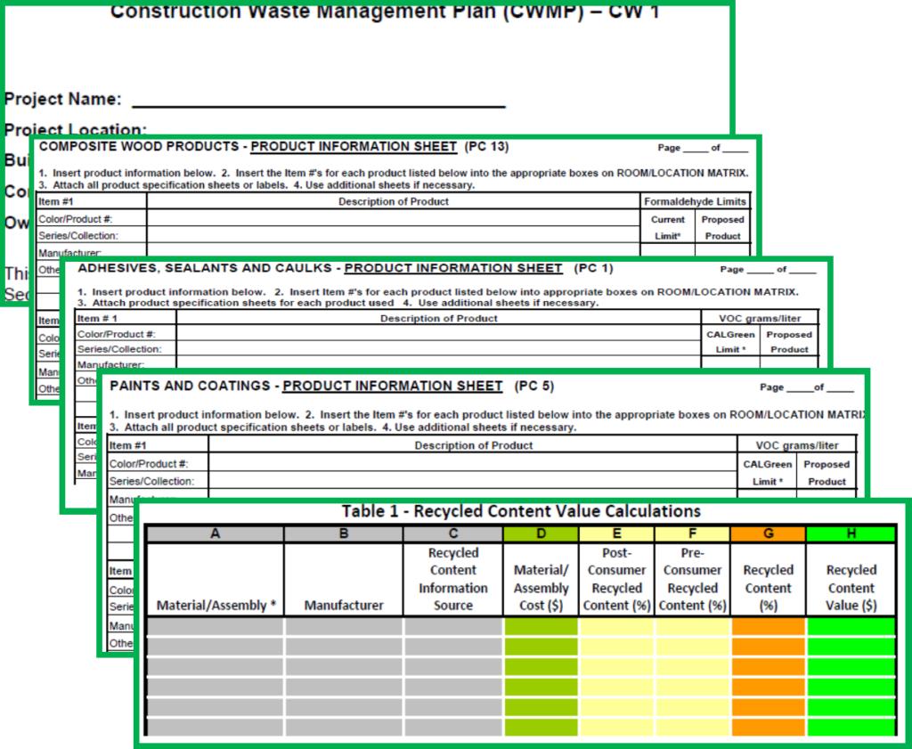CalGreen Verification Forms